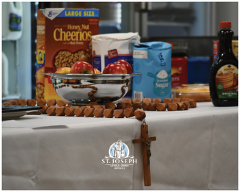 Donations Come In for St. Joseph Table