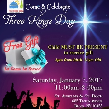 Los tres Reyes magos Enero 7/ Three Kings Day Jan 7th