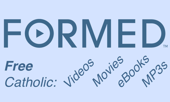 "GOOD NEWS!!  ""FORMED"" Can be compared to NETFLIX for Catholics... THE BEST CATHOLIC CONTENT. ALL IN ONE PLACE. ACCESS THE TRUTH, BEAUTY AND MEANING OF THE CATHOLIC FAITH anytime, anywhere... with FORMED. USE IN ON YOUR COMPUTER, TABLET, or SMARTPHONE. INFORMATIVE AND INSPIRING TEACHING. MULTIPLE PROGRAMS: ADULT FAITH FORMATION MARRIAGE PREPARATION ENRICHMENT, SCRIPTURE STUDY RCIA, SACRAMENT PREPARATION SMALL GROUP TEEN DISCIPLESHIP. CATHOLIC STUDY, PROGRAMS, MOVIES, AUDIO PRESENTATIONS and eBOOKS REGISTER AT FORMED.ORG PARISHIONERS, ENTER CODE: XT2XVZ"