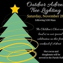 Outdoor Advent Tree Lighting