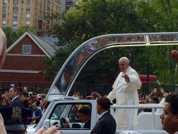Pope Francis Near Central Park