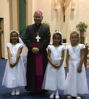 Bishop Serratelli Meets with First Communicants