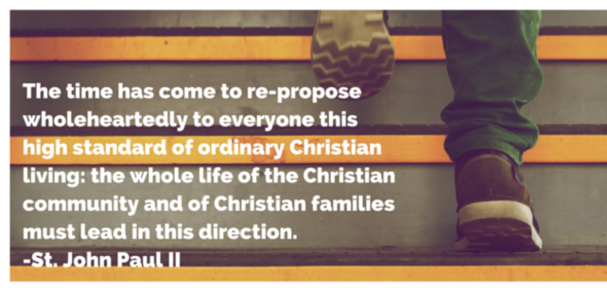 The time has come to re-propose wholeheartedly to everyone the high standard of ordinary Christian living.