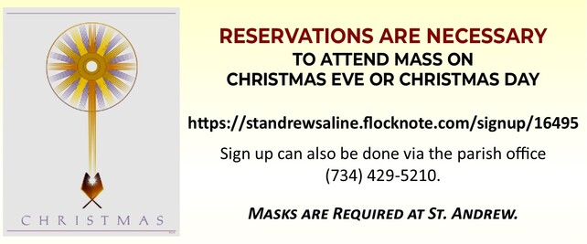 Open this link to make you Christmas Mass Reservations