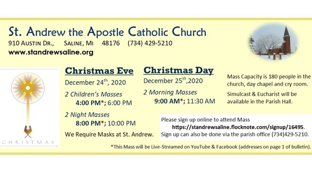 Open this link to make your Christmas Mass Reservations