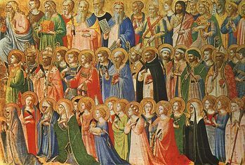 All Saints Day Masses; 8 AM, 12:30 and 7:30 PM