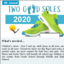 Two Good Soles Shoe Drive Collection <br /> 10/17 & 18