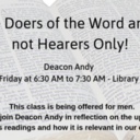 Breaking Open the Word - Deacon Andy