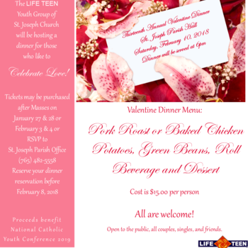 13th Annual Valentine Dinner