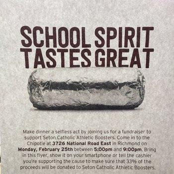 Chipotle for Athletic Boosters!