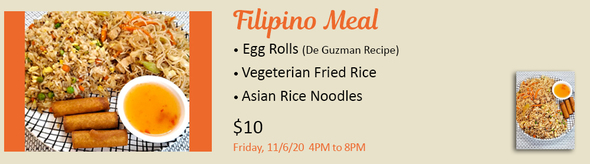 Filipino Meal, All Souls Sanford Festival