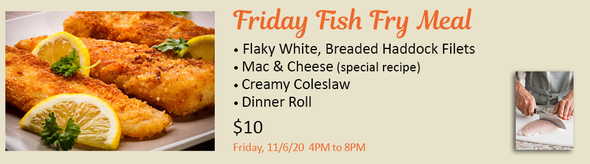 Friday Fish Fry Meal, All Souls Sanford Festival