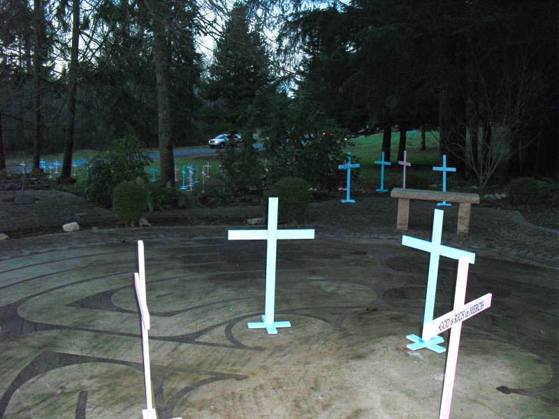 St. Stephen Memory Garden for January Candlelight Vigil