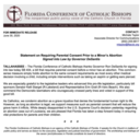 Statement on Requiring Parental Consent Prior to a Minor's Abortion