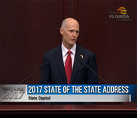2017 Legislative Session Begins; Governor Scott Delivers State of the State