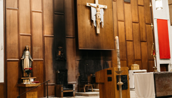 Red Mass Parish Damaged by Arson