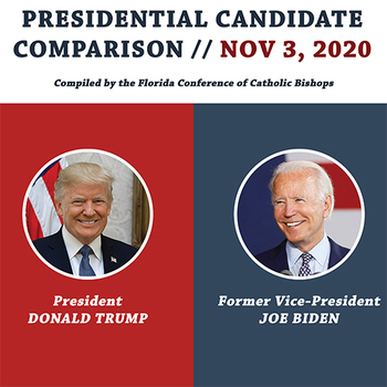 Presidential Candidate Comparison on Issues of Importance to Catholics