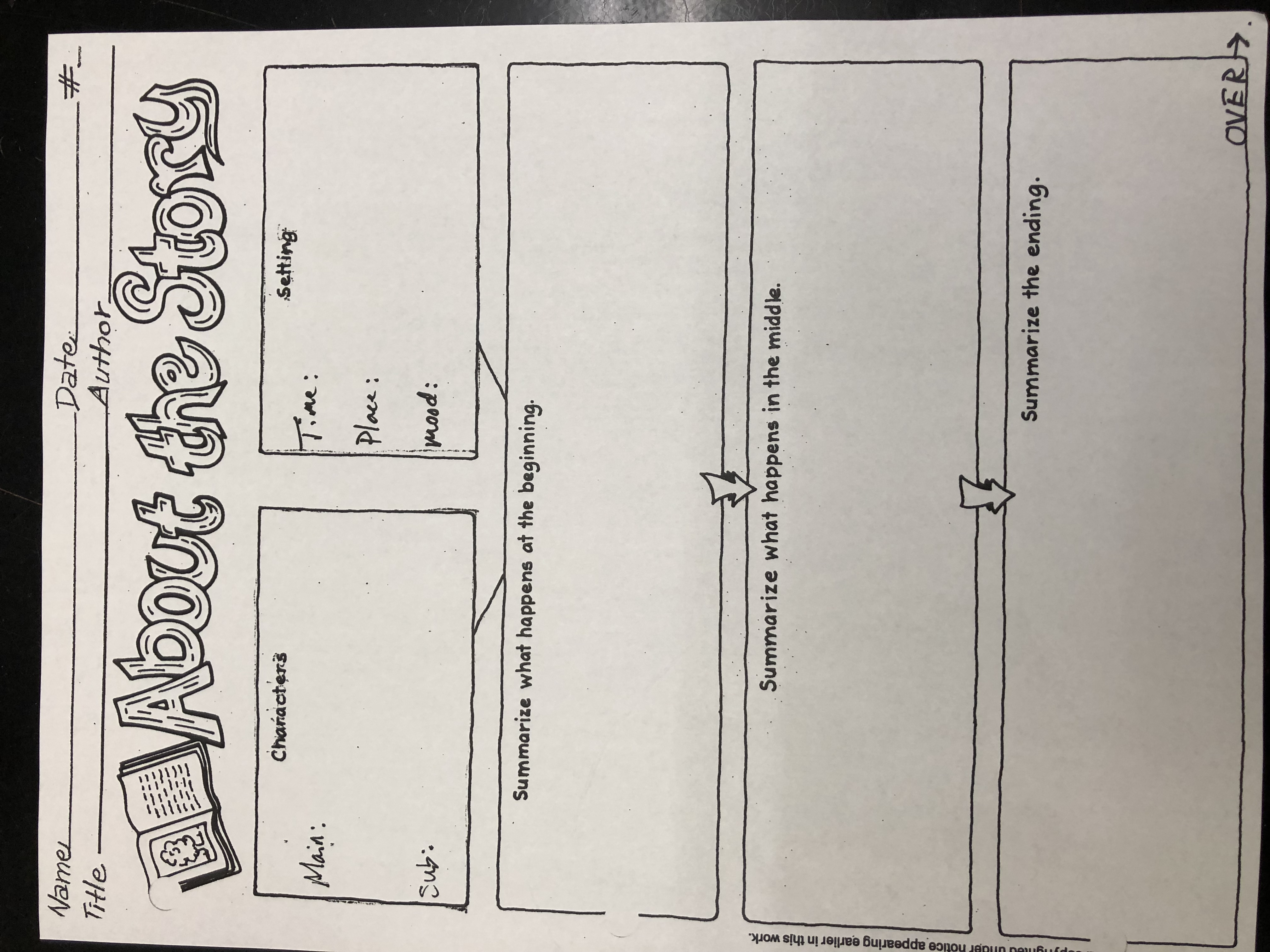 rising fourth grade welcome letter summer reading graphic organizer part i