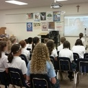 SJS Students Skype with Author Stuart Gibbs
