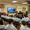 8th Graders Skype with Artist of Church Missals