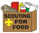 Saints Collect 223 Bags to Contribute to Scouting for Food Drive
