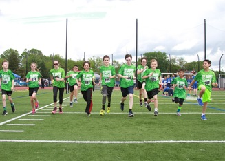 """Saints on the Run"" at  <br />Spring Diocesan Track Meet"