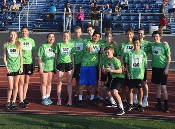 Saints Sprint their way to Third Place at the Spring Diocesan Track & Field Meet