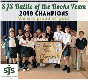 SJS Battle of the Books Team Achieves PERFECT SCORE at Diocesan Competition