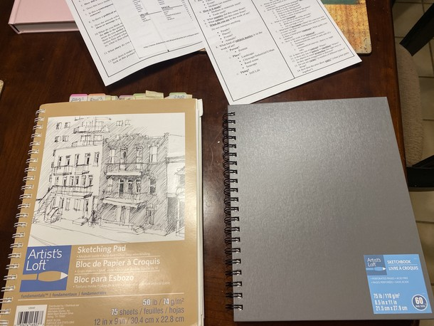 Examples of sketchbooks