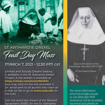 St Katherine Drexel Feast Day Mass