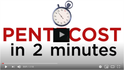 "Stopwatch and text ""Pentecost in 2 minutes"""