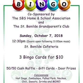 Family Bingo - Home & School & Grandparents Club
