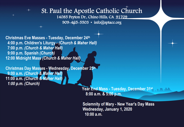 St Paul Church Christmas 2020 Advent and Christmas Events   St. Paul the Apostle Catholic Church