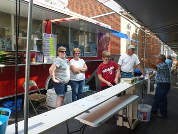 Food Wagon at the Sunman Firemen's Festival