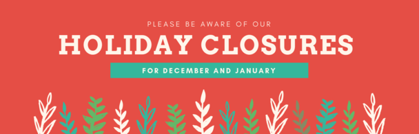 Both Parish Offices will be Closed 12/24/19 - 1/1/20