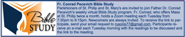 Fr. Conrad Pecevich Bible Study: