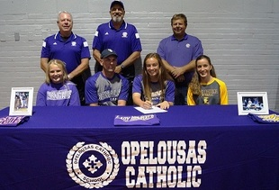 Mallory Little signs with LSU-E Lady Bengals