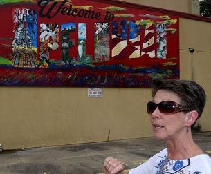 Cindy Pitre, OC Art teacher, helps add life to empty storefronts