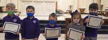 January Preschool Christian Students of the Month