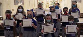 April Elementary Christian Students of the Month