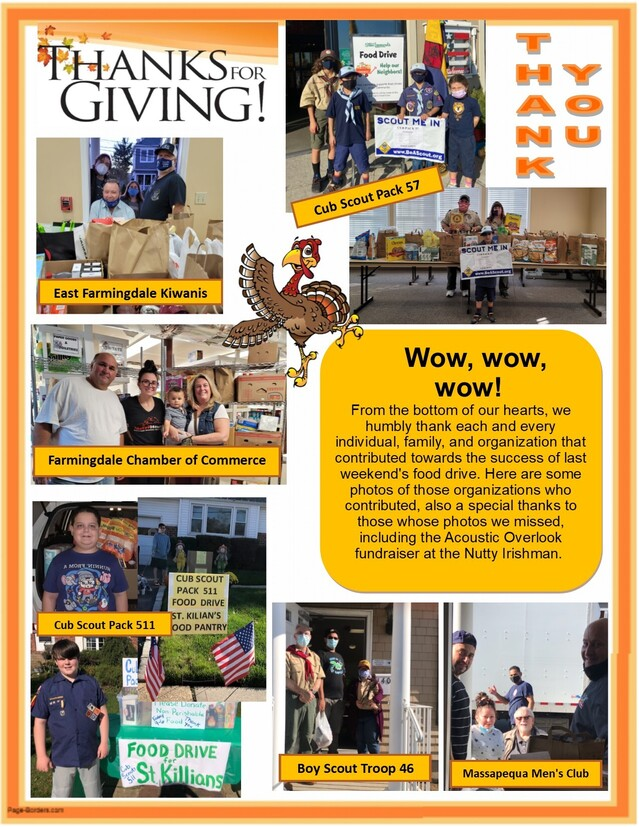 Outreach Thanksgiving Food Drive Weekend