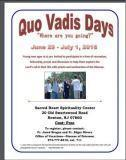 Quo Vadis Days - Save the Date: 6/29/2016