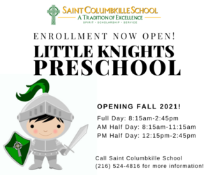 Register NOW for Little Knights Pre-School!