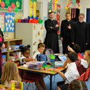 Bishop Serratelli visits the new Divine Mercy Academy