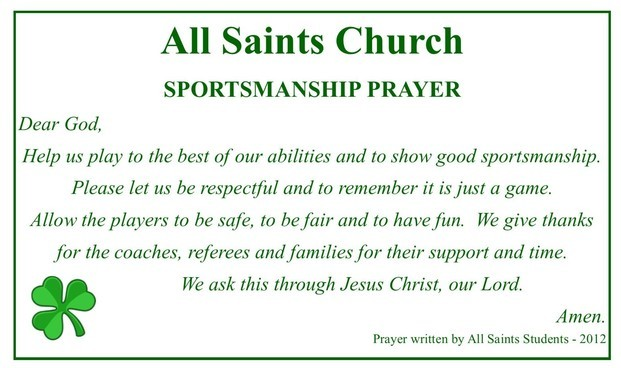 All Saints Sportsman Prayer