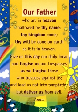 Our Father Prayer Card