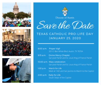 Texas Catholic Pro-Life Day - Save the Date!