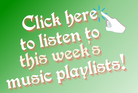 Listen to this week's music playlists!