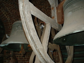 St. Peter's Bells being restored.