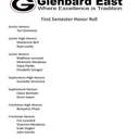 Shining Lights - Glenbard East 1st Semester Honor Roll